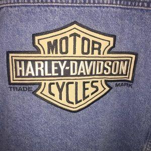 Harley Davidson Men's Denim Vest Jacket, Size XL